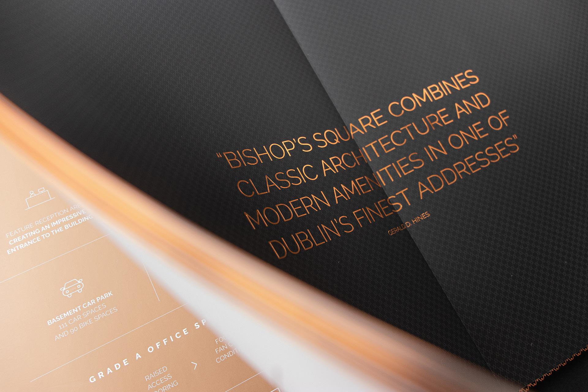 Brochure foil detail